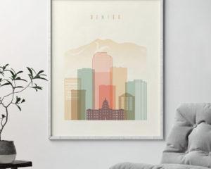 Denver poster pastel cream second