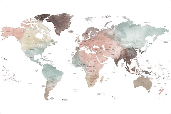 Detailed world map sample