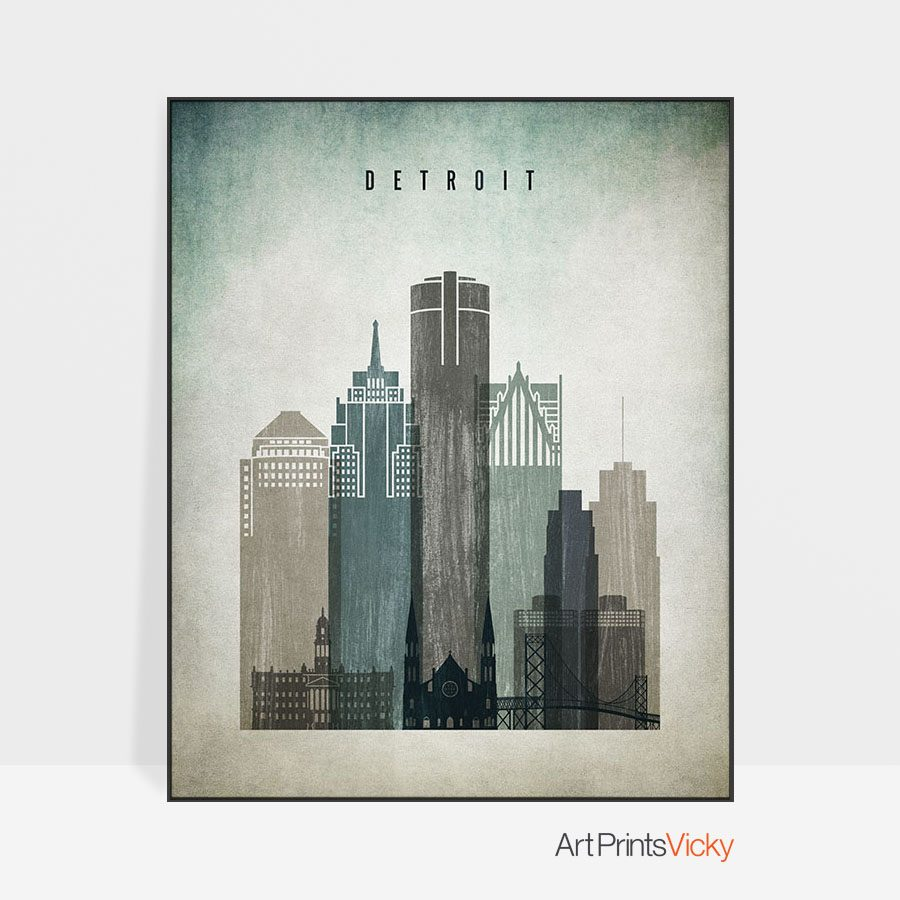 Detroit poster distressed 3