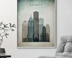 Detroit poster distressed 3 second