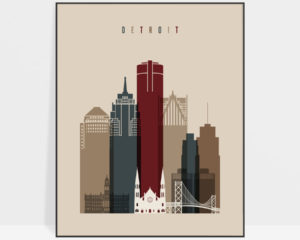 Detroit poster earth tones 2