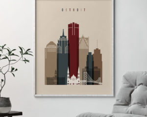 Detroit poster earth tones 2 second