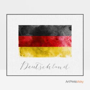 Deutschland flag art print