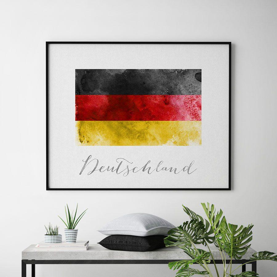 Deutschland flag art print second