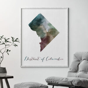 District of Columbia map print second