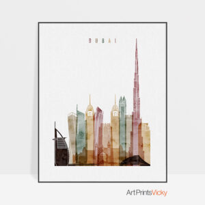 Dubai poster watercolor 1