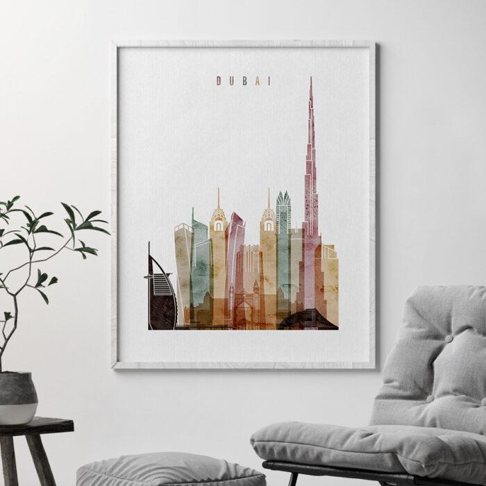 Dubai poster watercolor 1 second