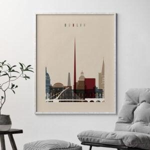 Dublin poster earth tones 2 second