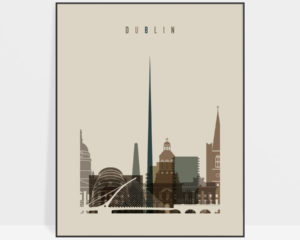 Dublin art print earth tones 3