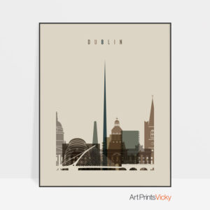Dublin art print earth tones 3