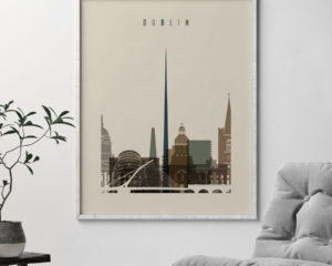 Dublin art print earth tones 3 second