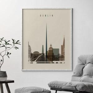 Dublin art print earth tones 3 second