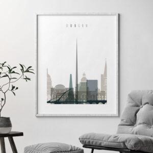 Dublin art print skyline earth tones 4 second