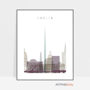 Dublin print skyline pastel 2