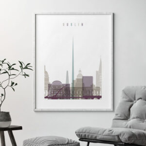 Dublin print skyline pastel 2 second