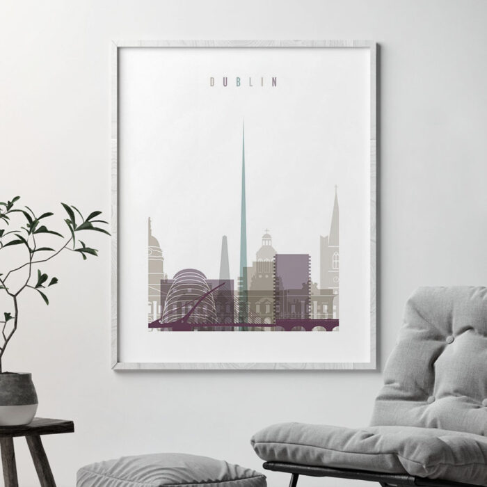 Dublin print skyline pastel 2 second