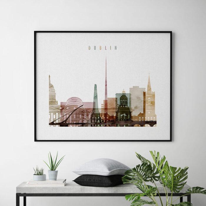 Dublin city print watercolor 1 landscape second