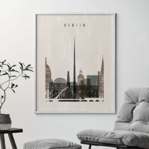Dublin skyline print distressed 2 second