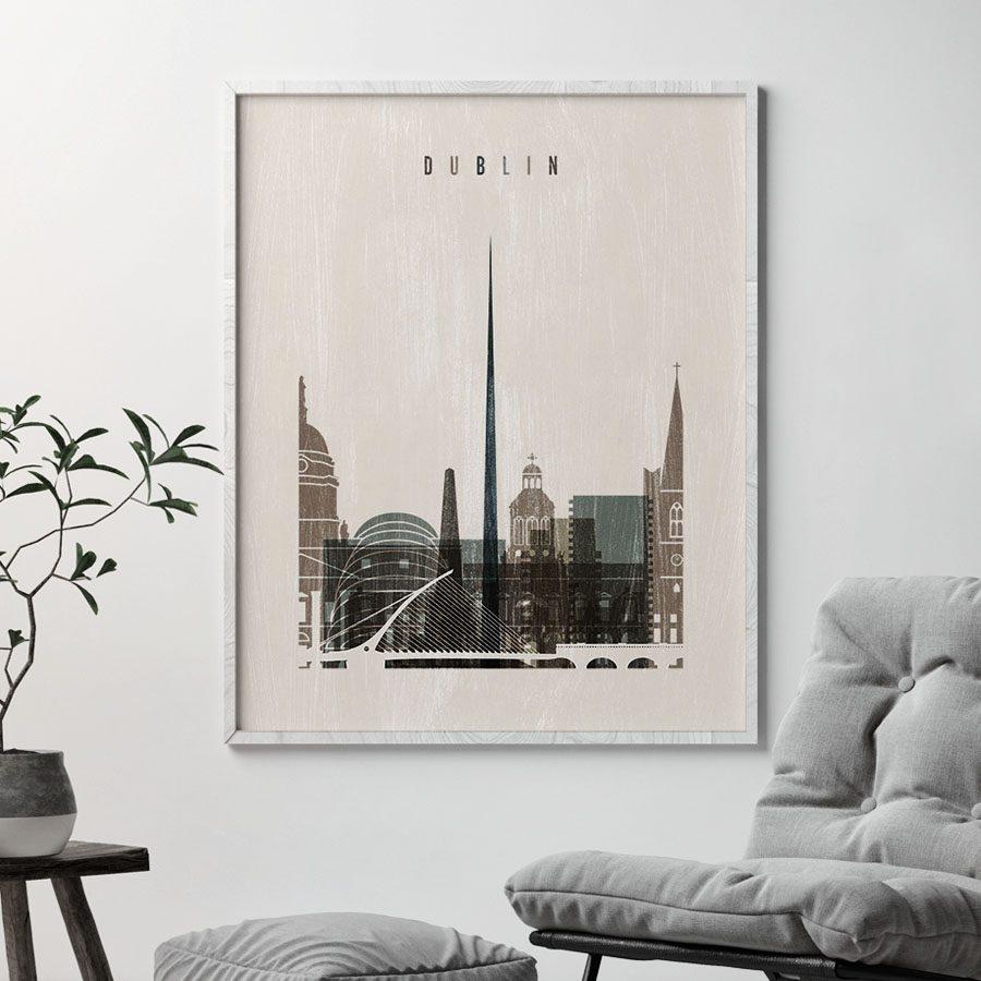 Dublin skyline print distressed 2 second
