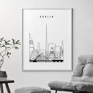 Dublin art print black and white second