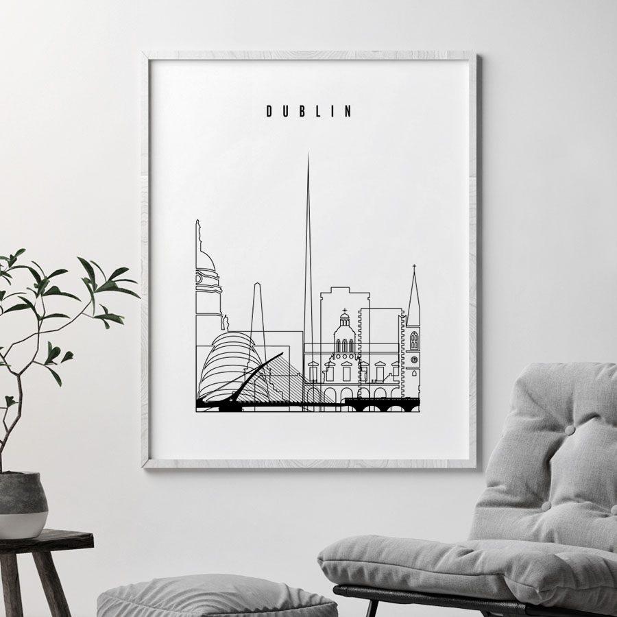 Dublin art print black and white second