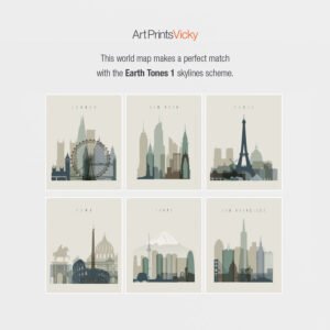 Earth tones 1 skyline map match