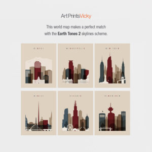 Earth tones 2 skylines map match options