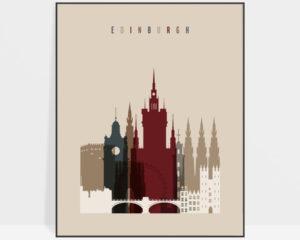 Edinburgh poster earth tones 2