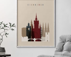 Edinburgh poster earth tones 2 second