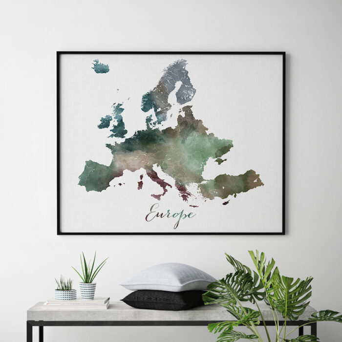 Europe map poster second