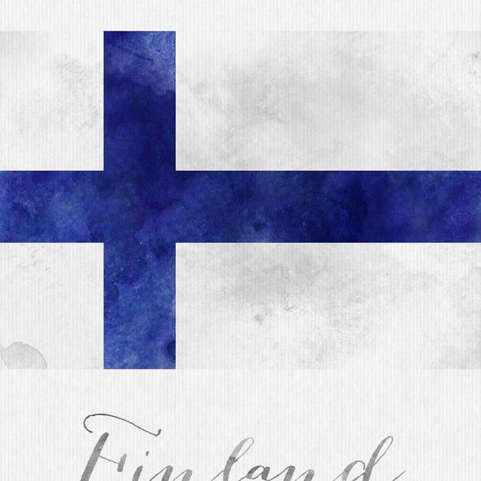 Finland flag art print detail