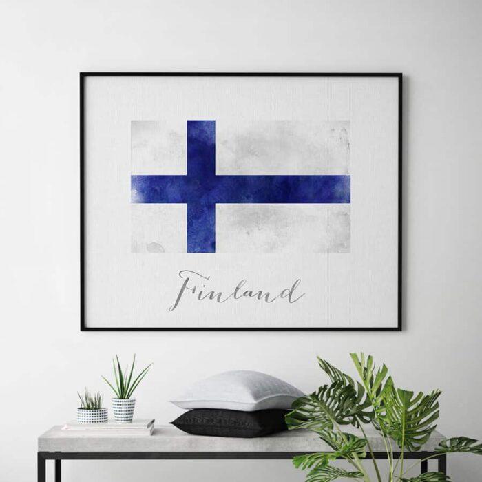 Finland flag art print second