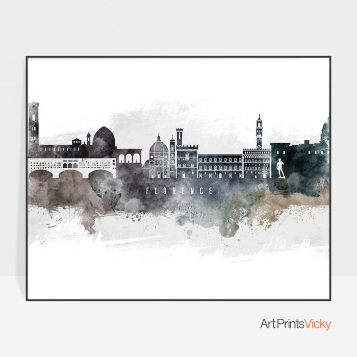 Florence art poster watercolor