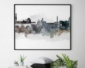 Florence art poster watercolor second