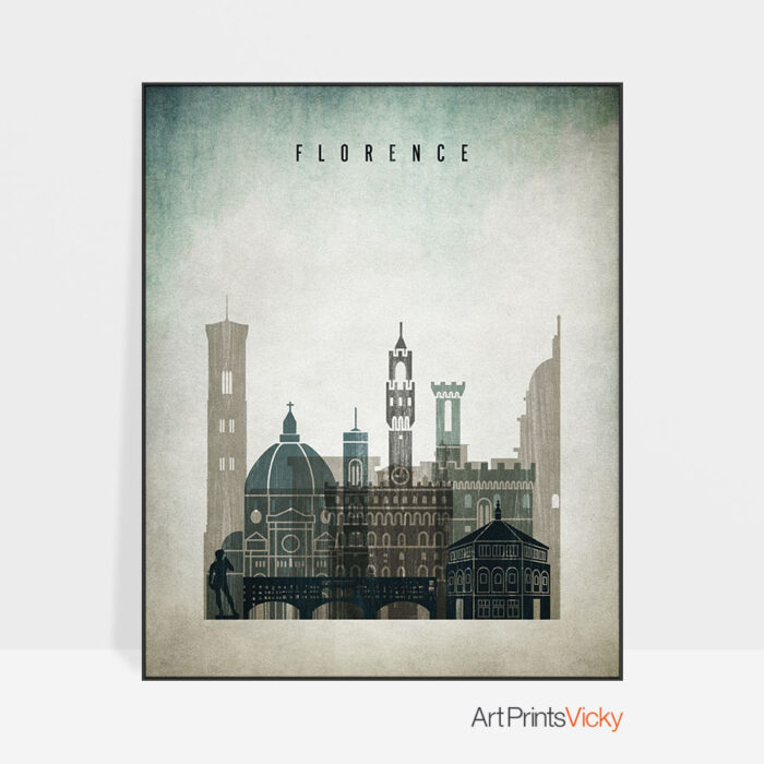 Florence poster distressed 3