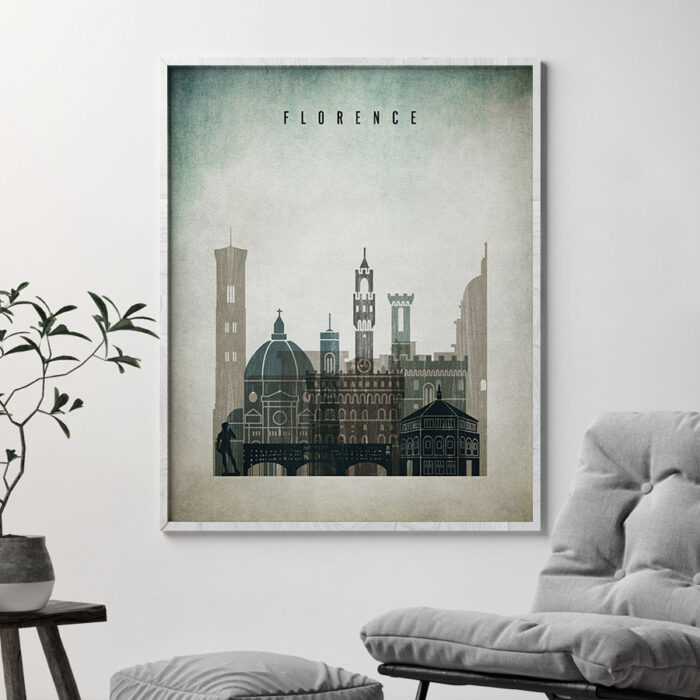 Florence poster distressed 3 second