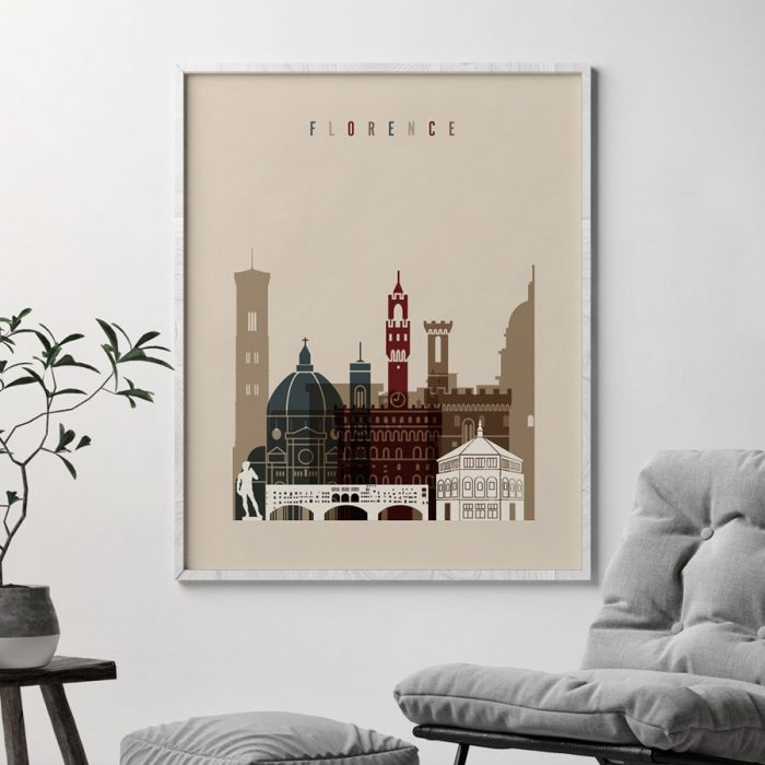 Florence poster earth tones 2 second