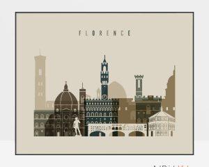 Florence art print landscape earth tones 3