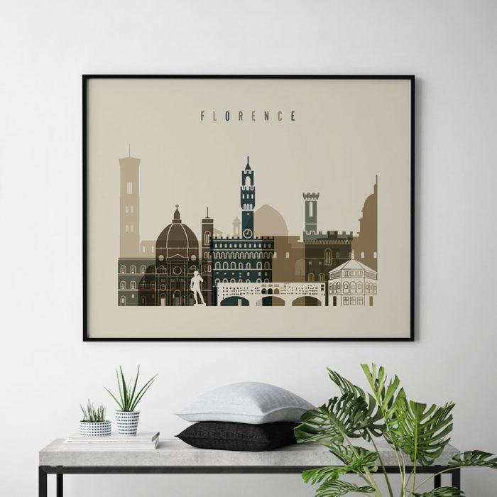 Florence art print landscape earth tones 3 second
