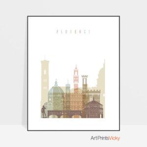 Florence wall art pastel white