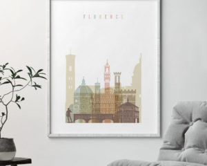 Florence wall art pastel white second