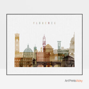 Florence poster watercolor 1 landscape