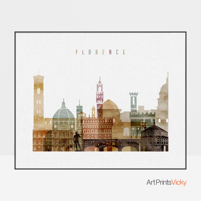 Florence poster watercolor 1 landscape