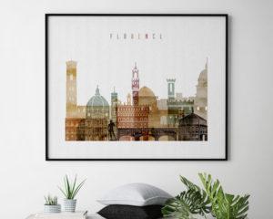 Florence poster watercolor 1 landscape second