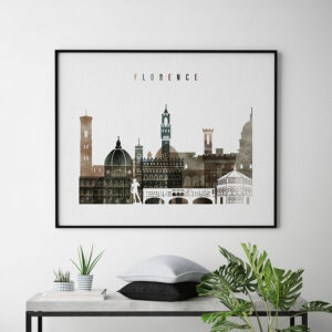 Florence skyline print watercolor 2 landscape second