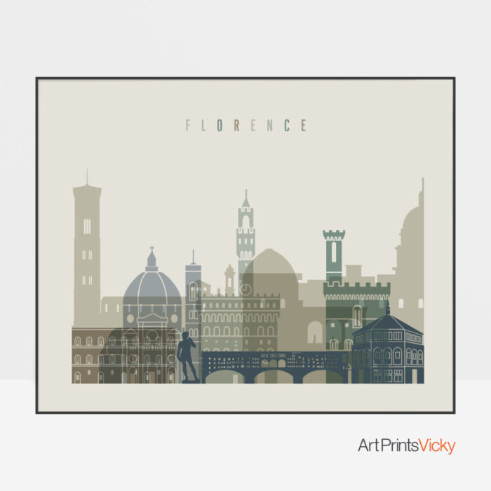 Florence print earth tones 1 landscape
