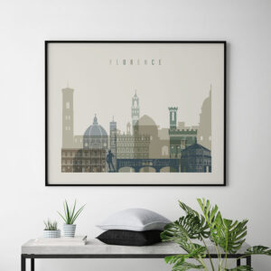 Florence print earth tones 1 landscape second