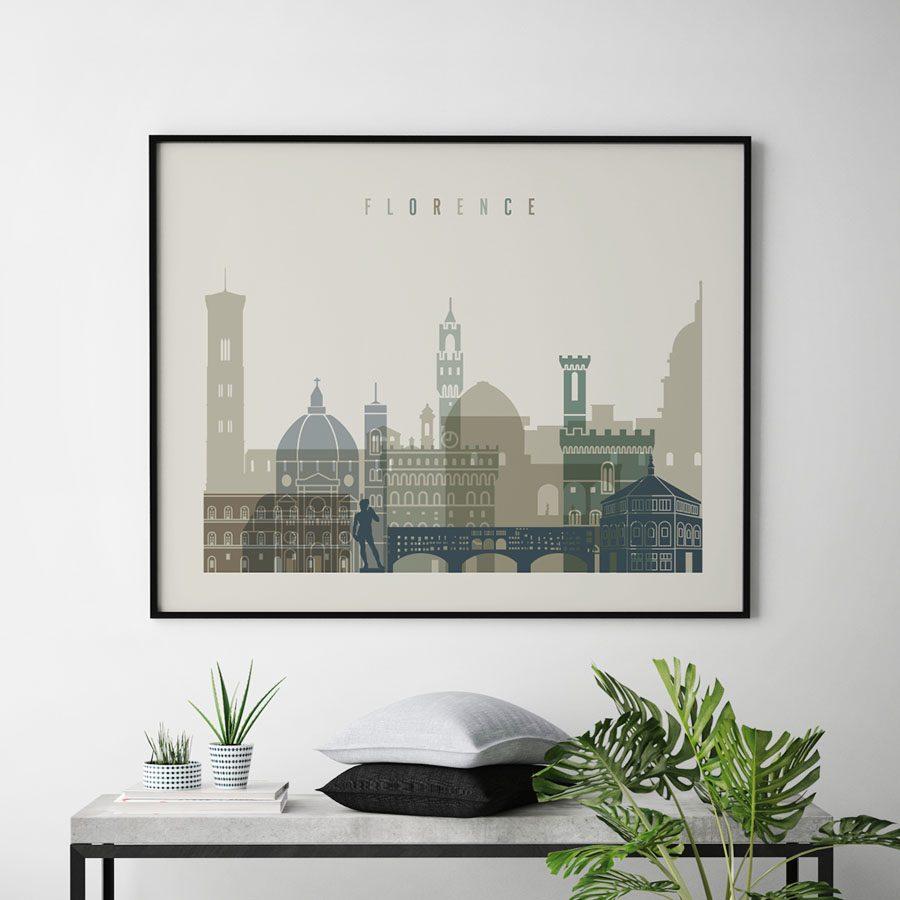 Florence print earth tones 1 landscape second