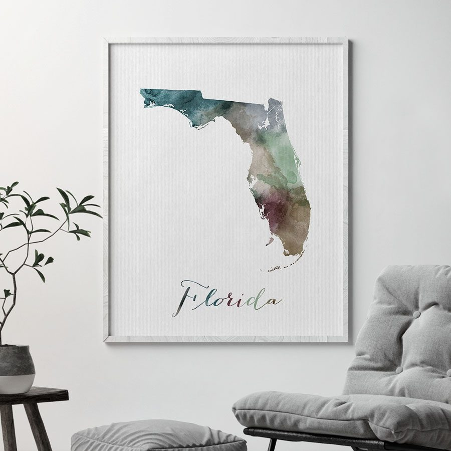 Florida State map print second