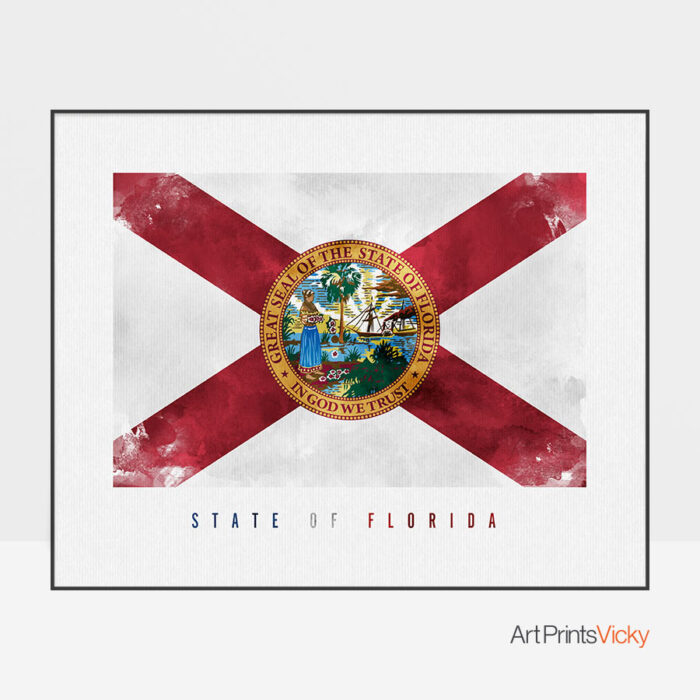 Florida State flag art print